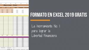 Formato de registro de gastos en Excel 2019